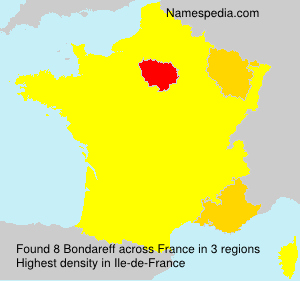 Surname Bondareff in France