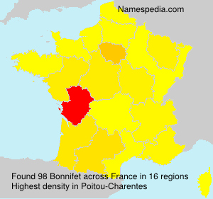 Surname Bonnifet in France