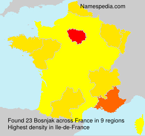 Surname Bosnjak in France