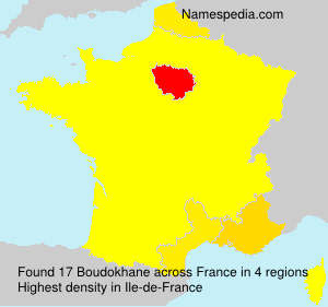 Familiennamen Boudokhane - France