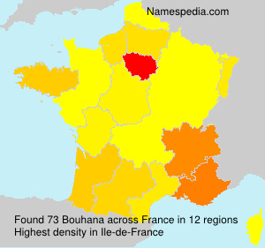 Surname Bouhana in France