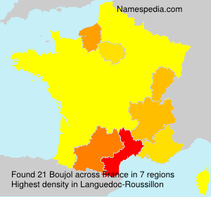 Surname Boujol in France