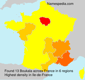 Surname Boukala in France