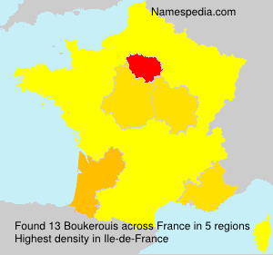 Surname Boukerouis in France