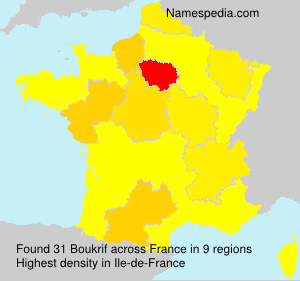 Surname Boukrif in France