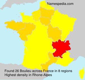 Surname Boulieu in France