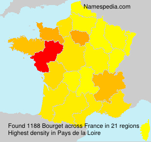 Surname Bourget in France