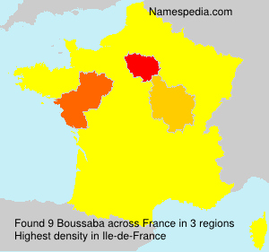 Surname Boussaba in France