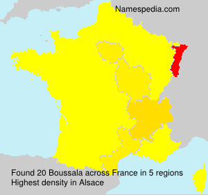 Surname Boussala in France