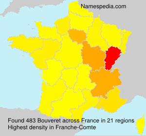 Familiennamen Bouveret - France