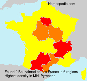 Surname Bouzalmad in France