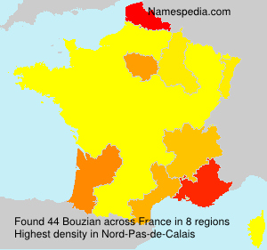 Surname Bouzian in France