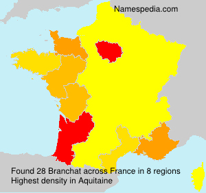 Surname Branchat in France