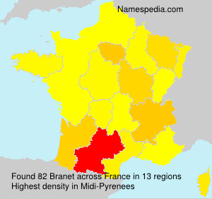 Surname Branet in France