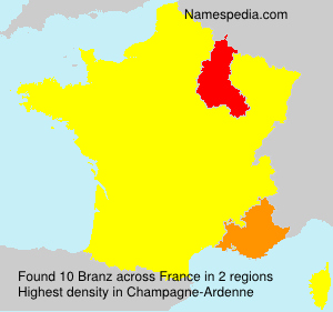Surname Branz in France