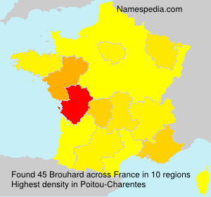 Surname Brouhard in France