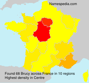 Surname Brucy in France