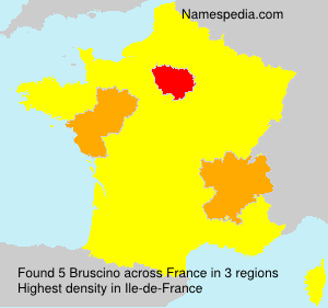 Surname Bruscino in France