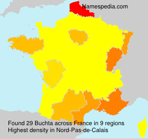 Surname Buchta in France