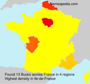 Familiennamen Bucko - France