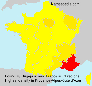 Surname Bugeja in France