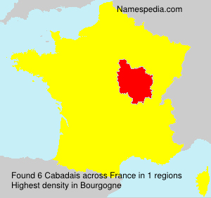Surname Cabadais in France