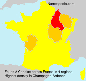Surname Cabalce in France