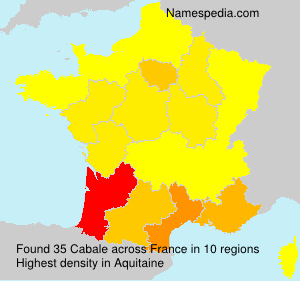 Surname Cabale in France