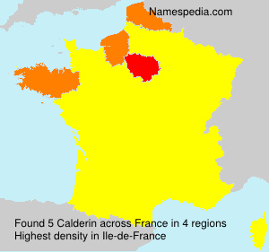 Surname Calderin in France