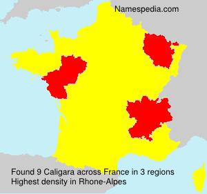 Surname Caligara in France