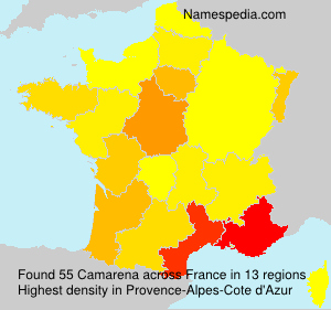 Surname Camarena in France