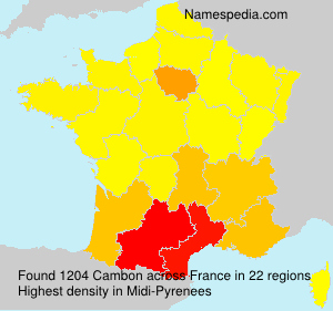 Surname Cambon in France