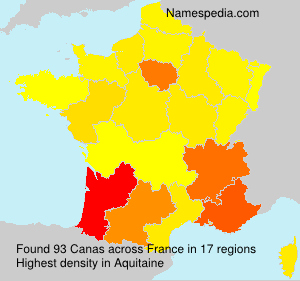 Surname Canas in France