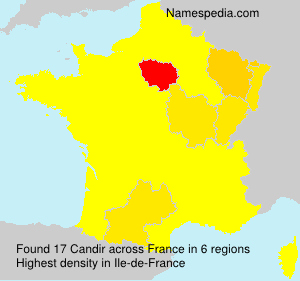 Surname Candir in France