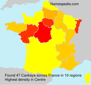 Surname Cankaya in France