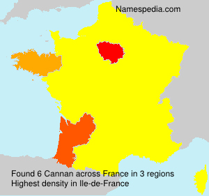 Surname Cannan in France