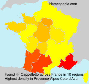Surname Cappelletto in France