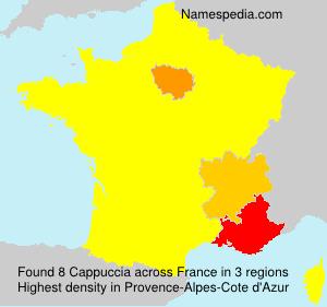 Familiennamen Cappuccia - France