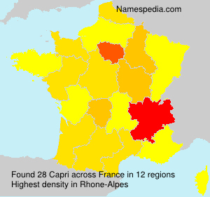 Surname Capri in France