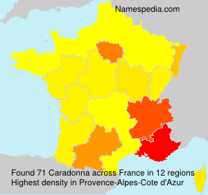 Surname Caradonna in France