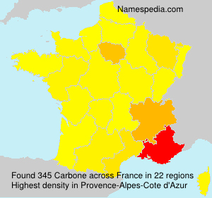 Surname Carbone in France