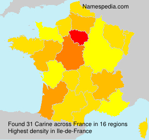 Surname Carine in France