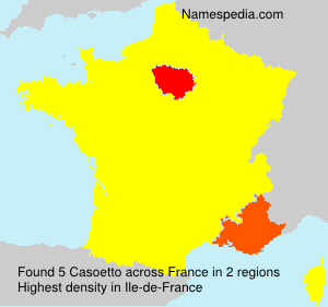 Surname Casoetto in France