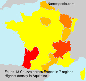 Surname Cauzzo in France