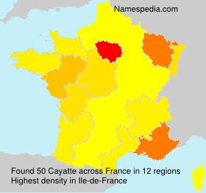 Surname Cayatte in France