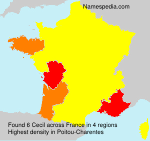 Surname Cecil in France