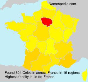 Surname Celestin in France