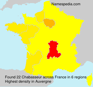 Surname Chabasseur in France