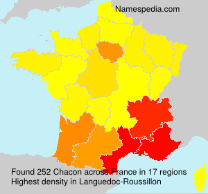 Surname Chacon in France