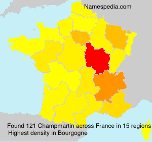 Surname Champmartin in France